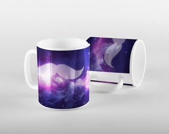 Galaxy Mustache Mug