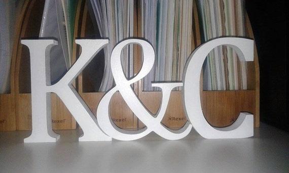 Wedding Freestanding Pine Wood Personalised A-Z Alphabet Word Letters Free Pick