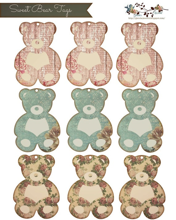 Sweet Bear Tags