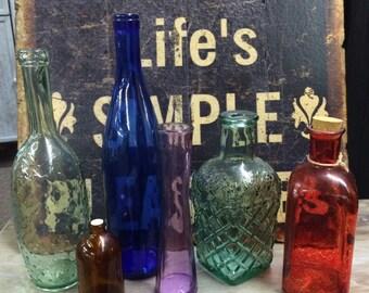Lot of 6 Vintage bottles