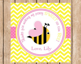 Cute Bumble Bee Favor Tag