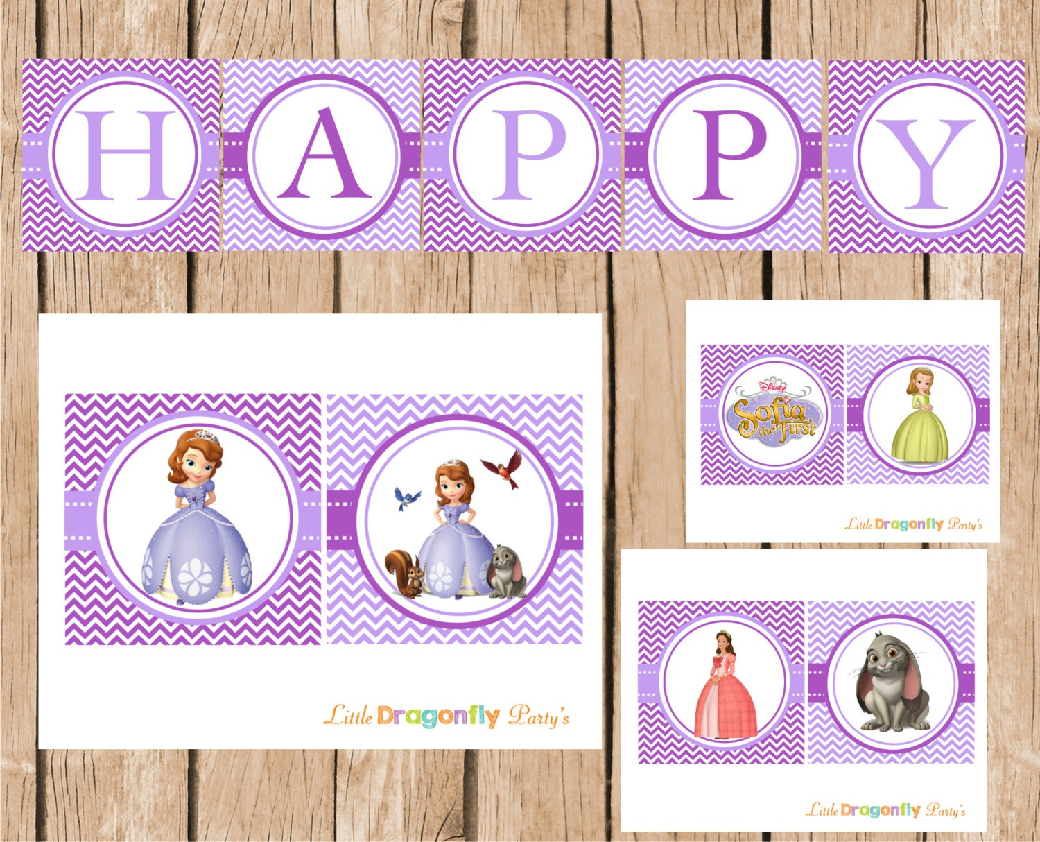 sofia the first happy birthday banner diy instant download