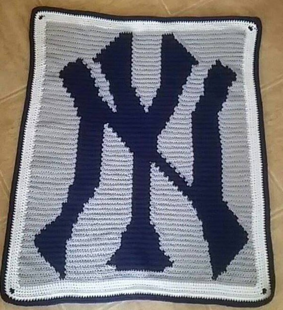 Crochet Pattern For Sports Blanket : Custom crocheted sports themed throw blanket by ...