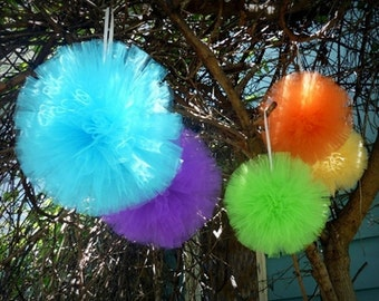 "8"" Decorative Tulle Ball - 4 Tulle Balls - Free Shipping!"