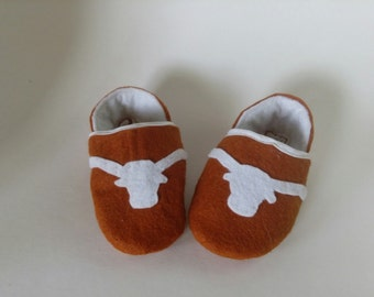 University of Texas, UT, Baby Booties