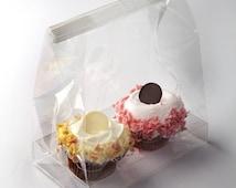 "Clear Cupcake Bag 7 x 4 x 9"" -24 pcs / BOGO Sale!!"