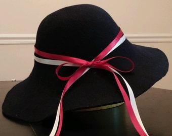 Navy Floppy Brim Hat