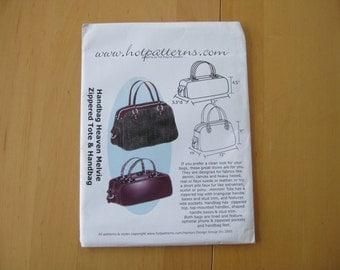 Hot Patterns Handbag Heaven Melvie Zippered Tote & Handbag
