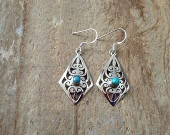 Sterling silver gemstone earrings/ Sleeping beauty earrings/ 925 sterling silver earrings