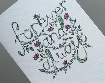 Forever & Always Illustrated Card