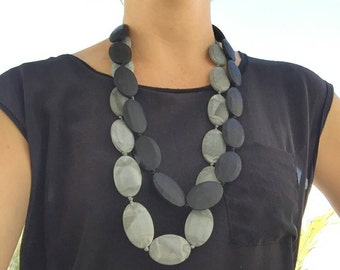 Silicone teething necklace Marble