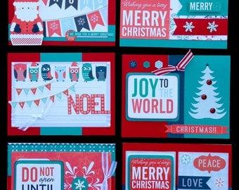 Christmas Card kit, Premade Christmas Cards, Handmade Card Kit, Handmade Christmas Card Kit, Pre-made Christmas Cards, All Occassion Cards