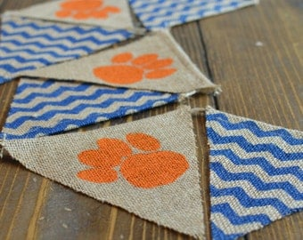 Auburn Tigers Bunting Banner Alabama Football War Eagle Orange and Blue
