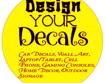 Design your own custom sticker, custom wall stickers, personalized decals, monogram decal