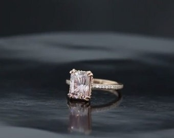 Pretty In Pink Solitaire Engagement Ring