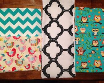 Baby burp cloths (3)
