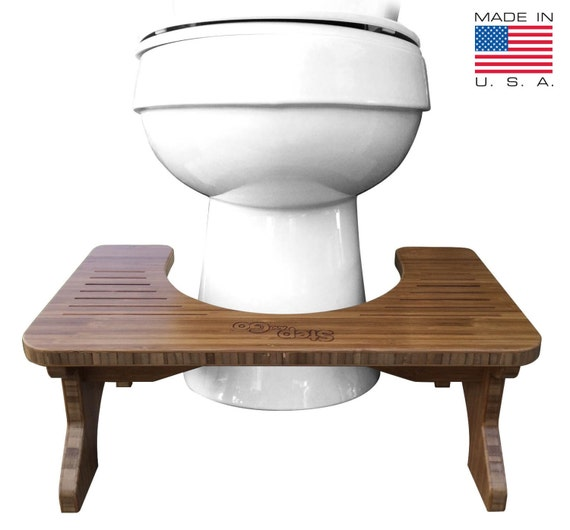 Step And Go Bamboo Toilet Stool