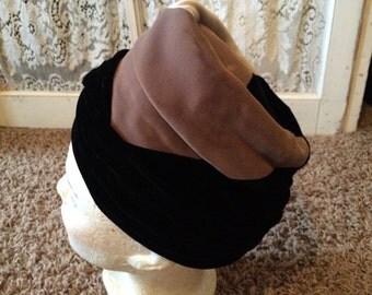 Vintage Velvet Turban Hat