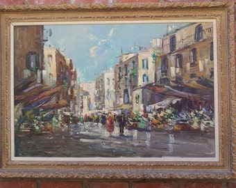 Carol Stream Il >> Vintage C Pierre Latour Original Oil Painting by Artchetypal