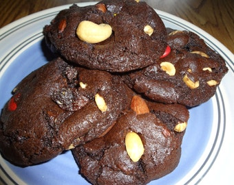 Excellent Homemade Double Chocolate Trail Mix Cookies (1 Dozen)