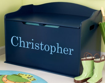 Modern Touch Personalized Toy Box - Blueberry