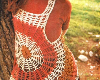 PDF Crochet in Circles Cobweb Vest Vintage Pattern Instant Download