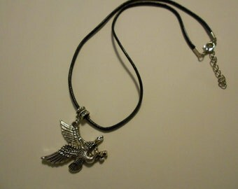 Metal Eagle Lobster Claw Necklace