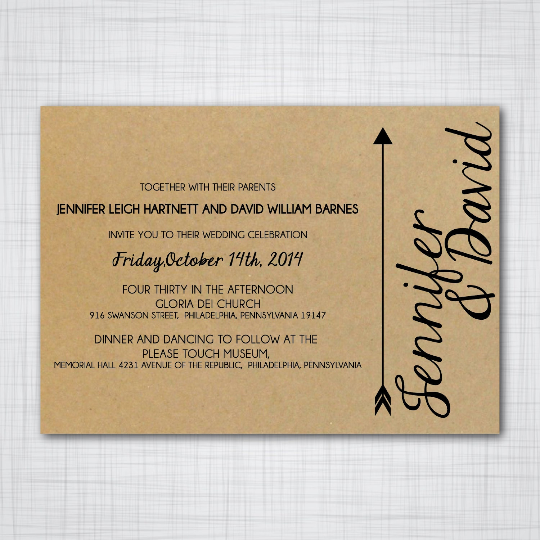 Wedding Invitation With Inserts Customizable DIY Wedding