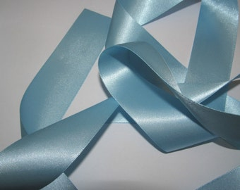 Sky Blue Quality Double Satin Ribbon 3mm Wide X 3 Metres