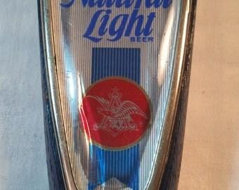 Natural light beer tap. vintage