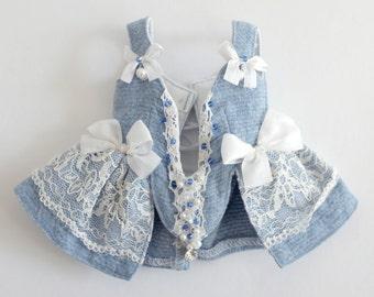 MSD_Cotton Blue Corset