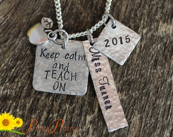 Teacher Necklace - Personalized Teacher Necklace - Jewelry for Teacher - Gift for Teacher - Engraved Personalized Necklace - Special Teacher