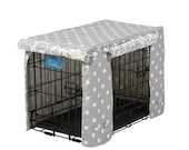 Grey Polka Dot Stagecoach Crate Cover
