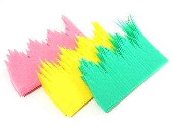 Colorful Baran Grass Garnish / Over 100 Plastic Bento Lunch Box Decoration / Sushi Roll Garnish / Pink Yellow Green Baran Grass Partition