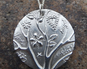 Fine Silver Tree of Life Pendant and Chain