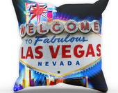 Las Vegas Sign Neon Pillow Table Cushion Cover Case Present Gift Bed Birthday Holiday USA Hot Home