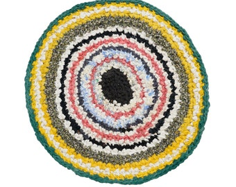 crocheted rug