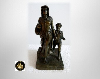 J B bronze Pioneer Woman figurine by Bryant Baker ca 1927