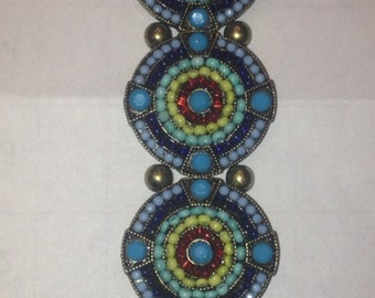 Hand crafted, beaded bracelet