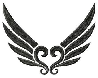 Wings Embroidery Design