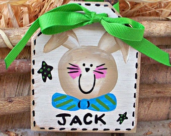 Personalized Easter Basket Tag, Rustic Easter Basket Label, Basket Name Tag, Easter Basket Ideas