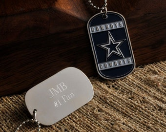 Personalized NFL Choose Your Favorite Football Team Dog Tag