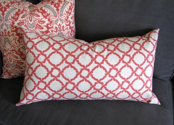 Orange Throw Pillow Burnt Orange Lumbar Sofa Pillow