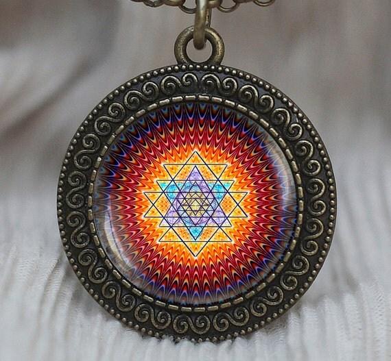 sri yantra pendant sacred geometry jewelry sri by pedantworld
