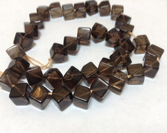 Smoky Quartz 7mm dice