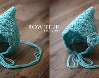 Crochet Newborn Pixie Bonnet