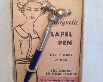 Vintage Magnetic Lapel Pen