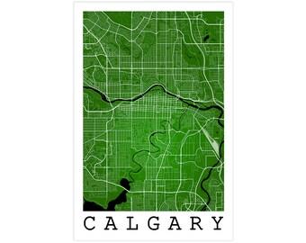 Calgary Street Map, Calgary Canada, Modern Art Print, Calgary Print, Calgary Map, Calgary Street Map, Calgary Decor, Calgary Alberta, Gift