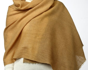 Wool and linen, plant dyed shawl WESTERLY