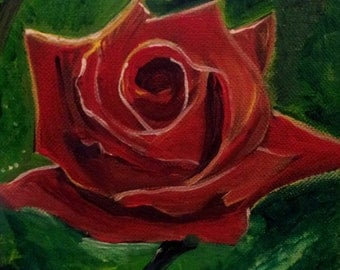 Rose: Original Acrylic Painting on Canvas